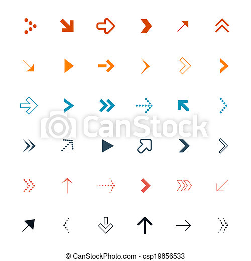 Vector Arrows Set Illustration - csp19856533