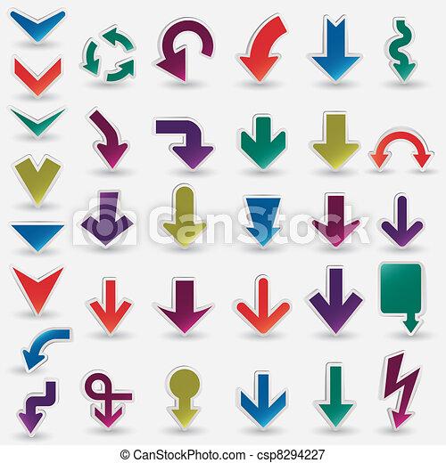 vector arrows set - csp8294227