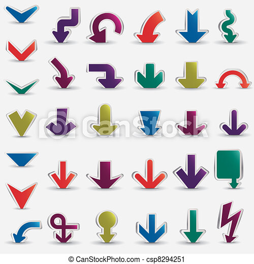 vector arrows set - csp8294251