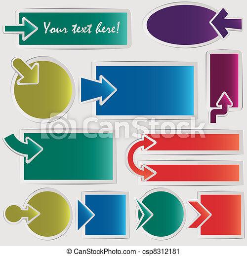 Vector arrows set - csp8312181
