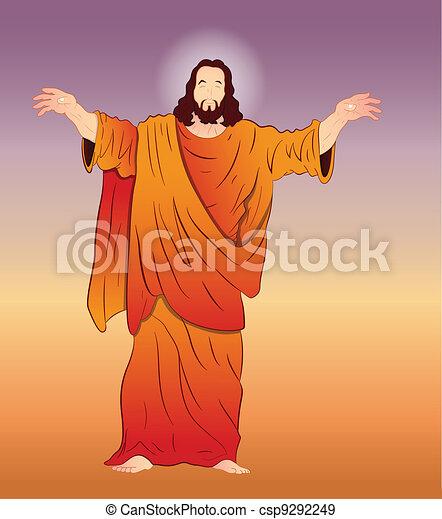 Vector Art of Jesus Christ - csp9292249