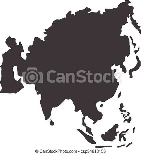 Vector asia map vector asia map gumiabroncs Choice Image