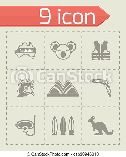 Vector Australia icon set - csp30946010