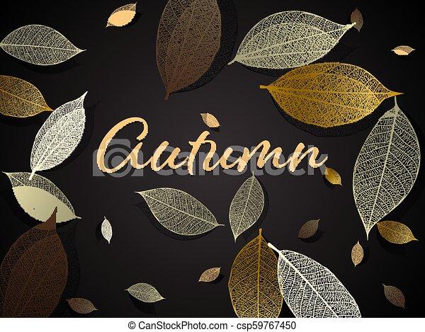 Vector autumn background - csp59767450
