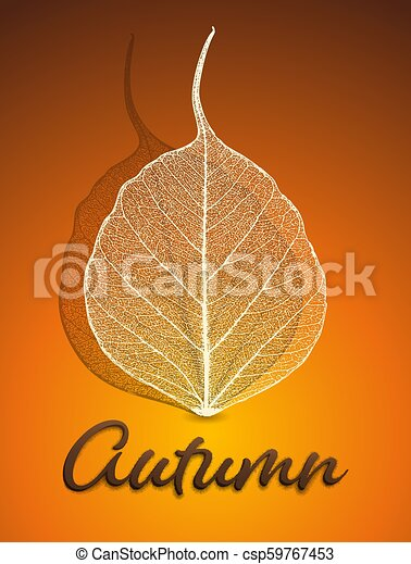 Vector autumn background - csp59767453