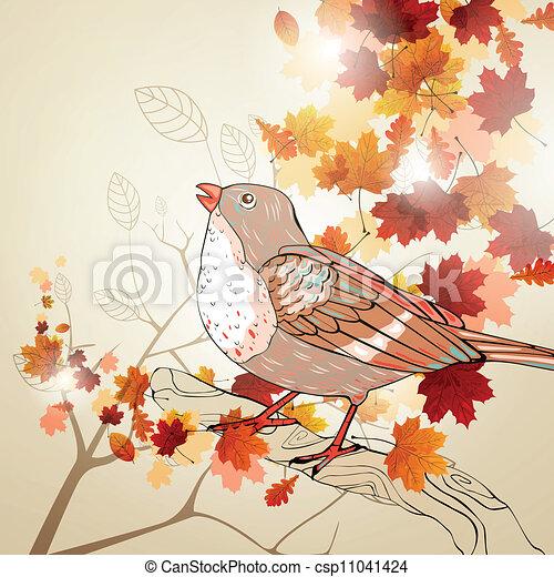 Vector Autumn Background - csp11041424