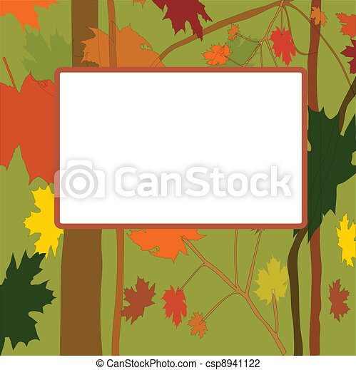 Vector autumn frame - csp8941122