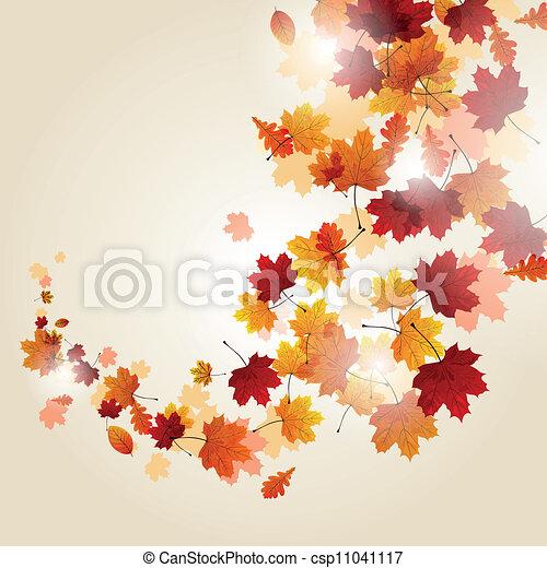 Vector Autumn Leaves - csp11041117