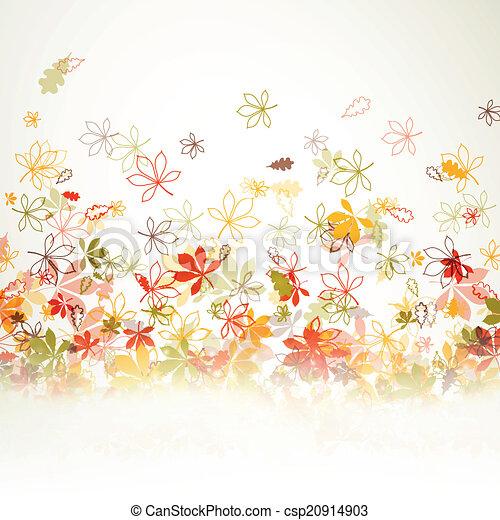 Vector Autumn Leaves - csp20914903