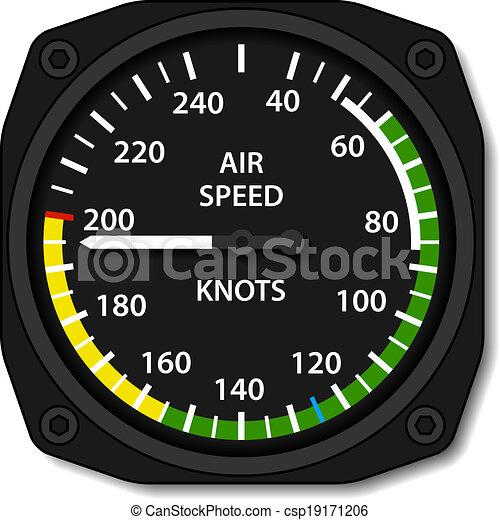 vector aviation aircraft airspeed indicator - csp19171206