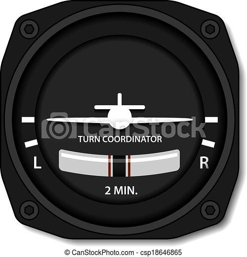 vector aviation airplane turn balance indicator - csp18646865