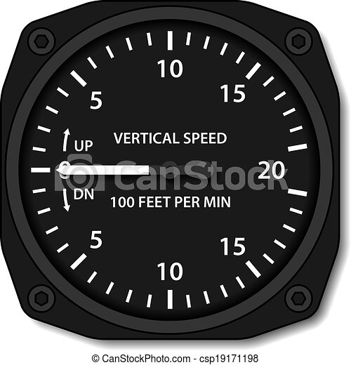 vector aviation variometer vertical speed indicator - csp19171198