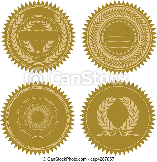 Vector Award Seal Set - csp4287657
