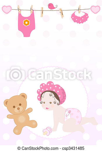 vector baby girl - csp3431485