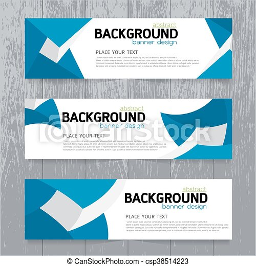 vector background banner collection horizontal business set
