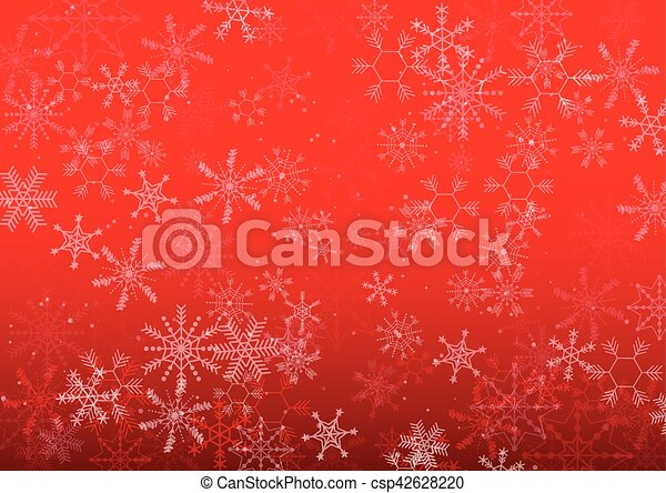 vector background Christmas snowflake design - csp42628220