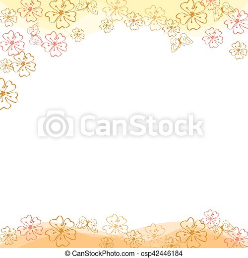 Vector background flowers spring - csp42446184