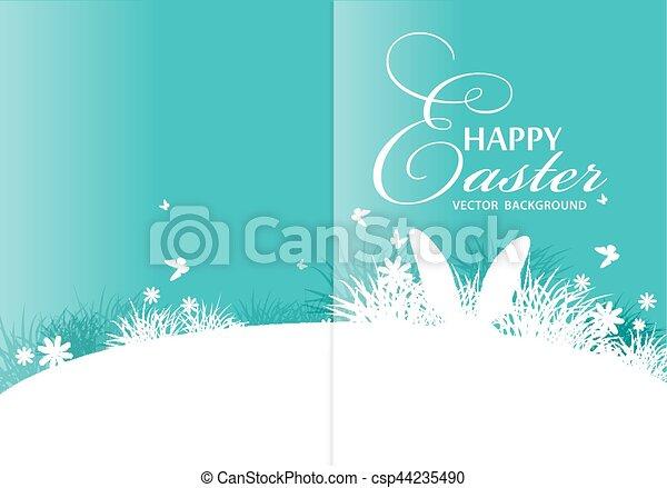 vector background for easter template for brochure rabbit ears