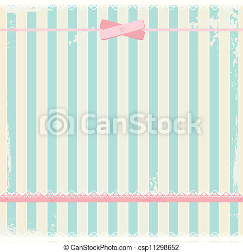 Vector background in shabby chic style  - csp11298652