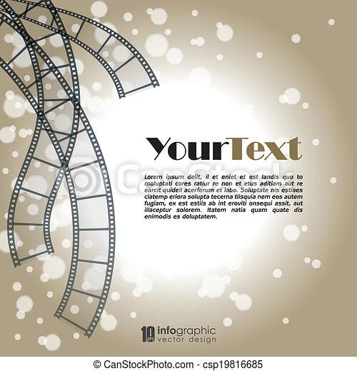 Vector Background Movie Film Strip Vector Info Graphic Background
