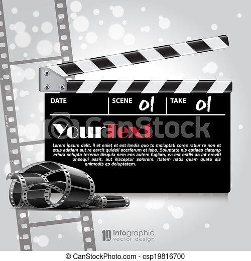 vector background movie film strip vector info graphic background movie film strip https www canstockphoto com vector background movie film strip 19816700 html