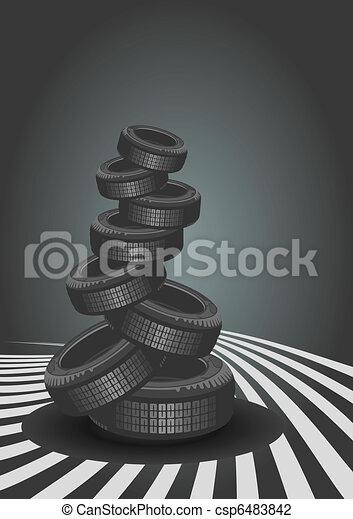 Vector background of car design - csp6483842