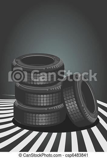 Vector background of car design - csp6483841