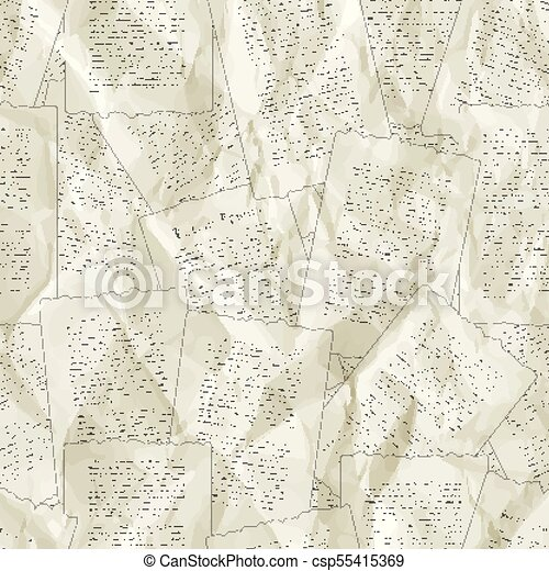 Vector Background Of Old Sheets Of Paper