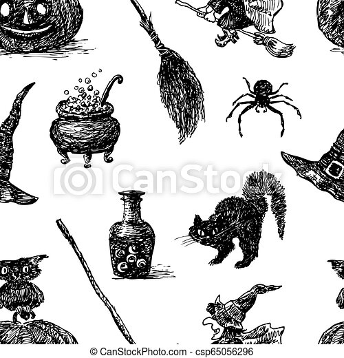 Vector background of the theme of Halloween - csp65056296