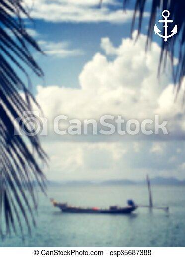 Vector background sea - csp35687388