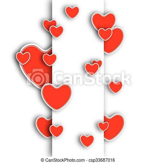 Vector background Valentines Day - csp33687016