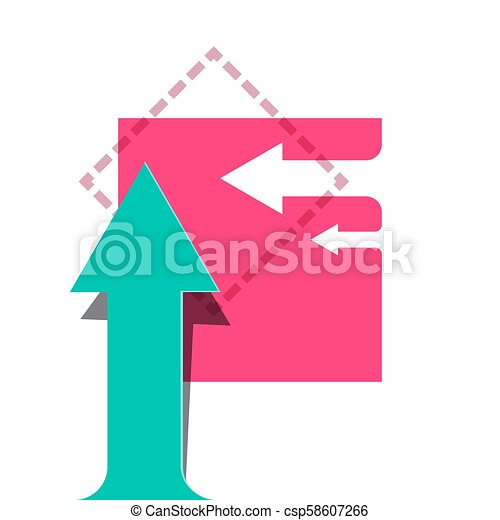 Vector Background with Arrows. Flat Design Arrow Concept. - csp58607266