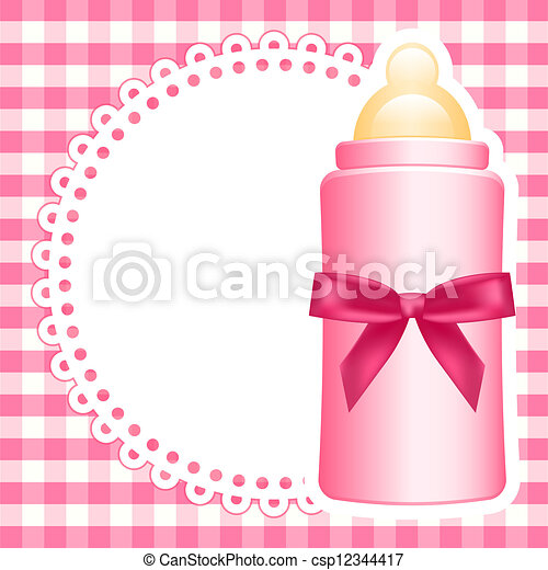 Vector background with baby bottle - csp12344417
