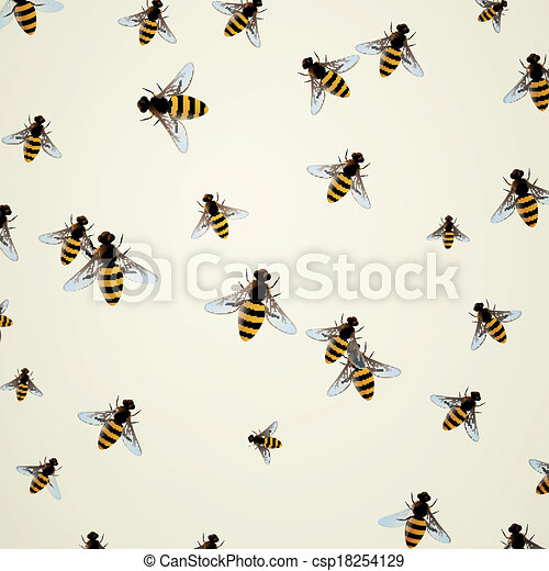 Vector Background with Bees - csp18254129