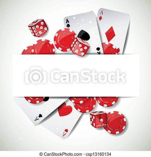 Vector Background with Casino Elements - csp13160134