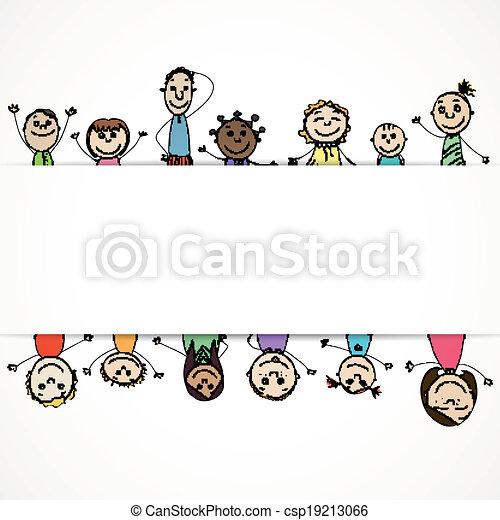 Vector Background with Children - csp19213066