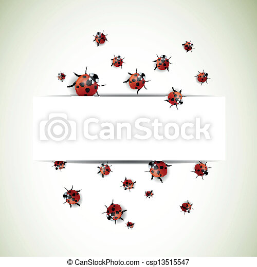 Vector Background with Ladybugs - csp13515547