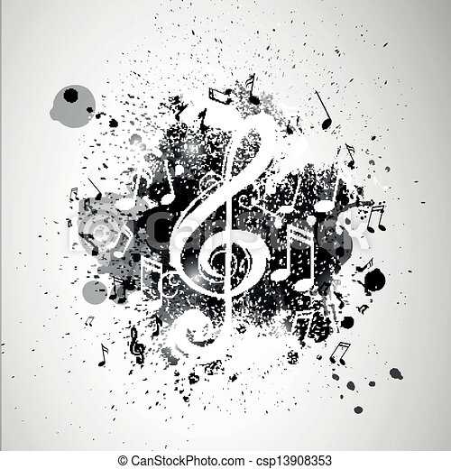 Vector Background with Music notes - csp13908353
