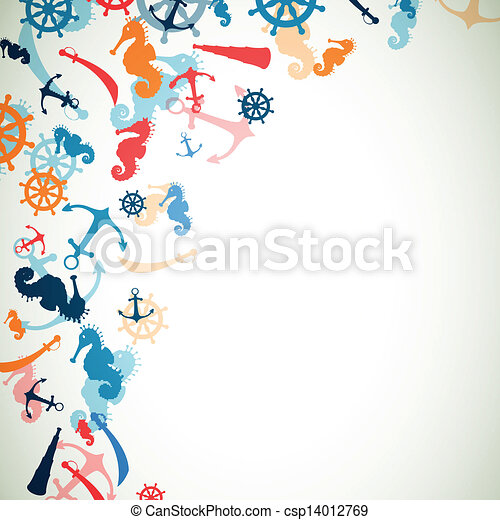 Vector Background with Nautical Elements - csp14012769
