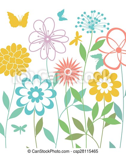 Vector background with spring flowers clip art vector search vector background with spring flowers mightylinksfo Gallery