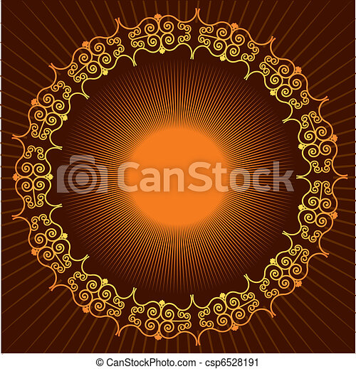 Vector background with vignettes.Abstract - csp6528191