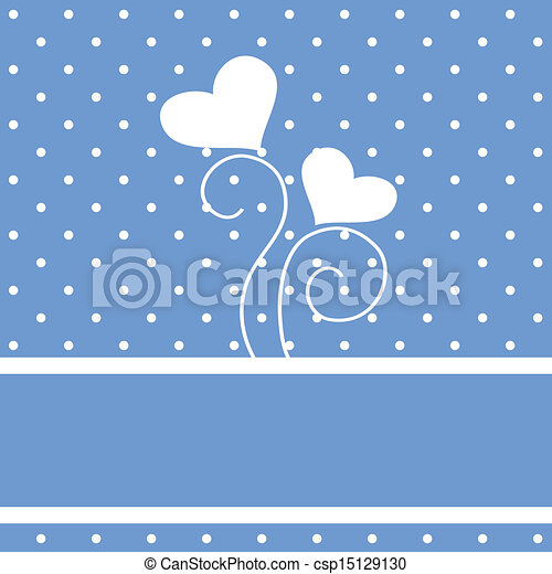 Vector background with vintage hearts - csp15129130