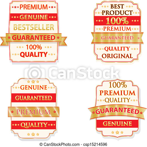 Vector badge design set - csp15214596