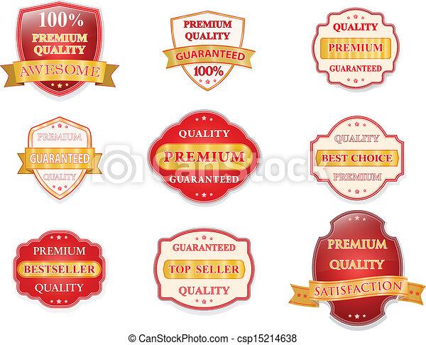 Vector badge design set - csp15214638