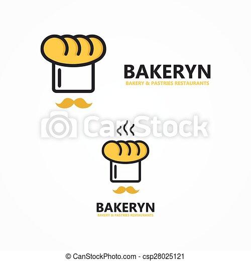 Vector bakery logo. Vector logo design element with business card ...