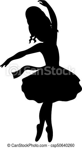 8956f1b390b9c Vector ballerina silhouette. Vector black silhouettes of ballerina ...