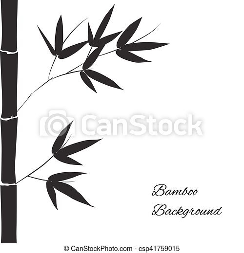 vector bamboo background black branch and stalk of bamboo on a white background floral pattern https www canstockphoto com vector bamboo background 41759015 html