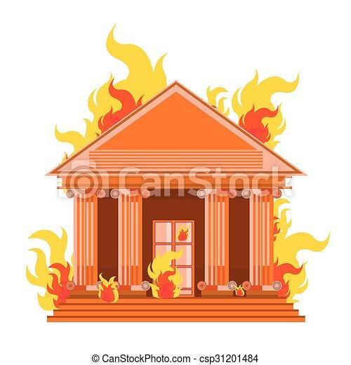 vector bank fire break corruption leak corrupt on white. Black Bedroom Furniture Sets. Home Design Ideas