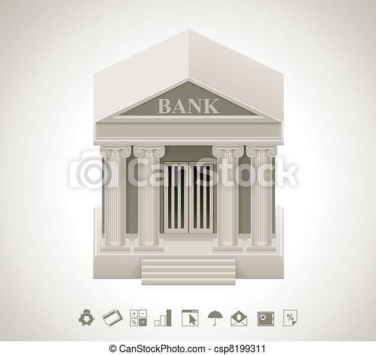 Vector bank icon - csp8199311