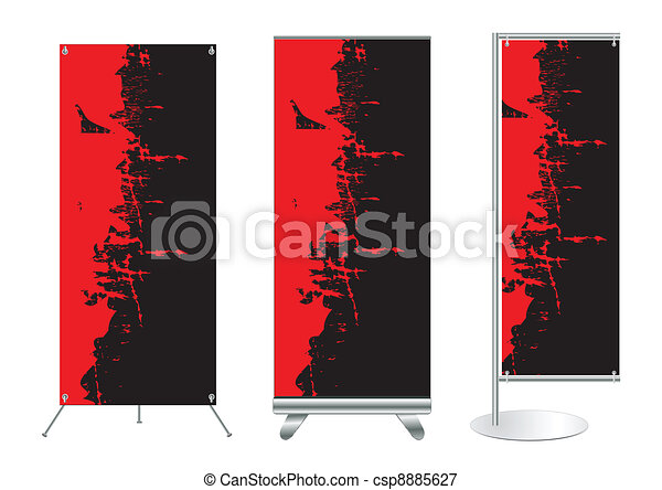 vector banner stand display set of banner stand display with